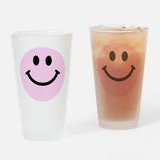 Pink Smiley Face Drinking Glass