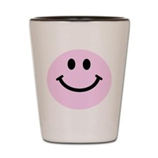 Pink Smiley Face Shot Glass
