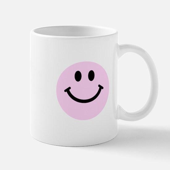 Pink Smiley Face Mug