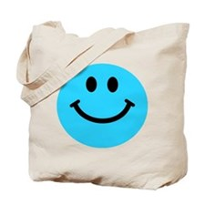 Blue Smiley Face Tote Bag