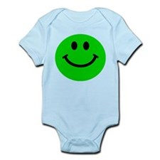 Green Smiley Face Infant Bodysuit
