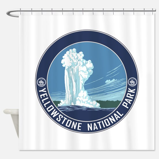 Yellowstone Travel Souvenir Shower Curtain