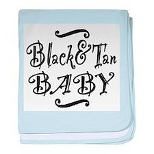 Black & Tan BABY baby blanket