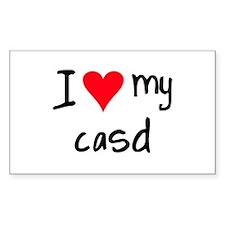 I LOVE MY CASD Decal