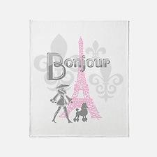 Bonjour Paris 2 Throw Blanket