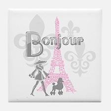 Bonjour Paris 2 Tile Coaster