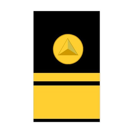NOAA Rear Admiral<BR> Vertical Sticker