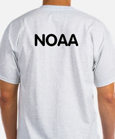 NOAA Rear Admiral<BR> Grey T-Shirt