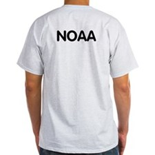 NOAA Rear Admiral<BR> Grey T-Shirt