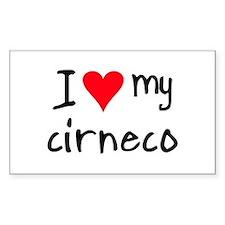 I LOVE MY Cirneco Decal