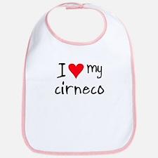 I LOVE MY Cirneco Bib