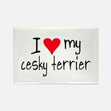 I LOVE MY Cesky Terrier Rectangle Magnet