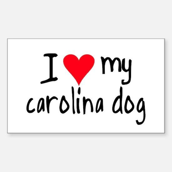 I LOVE MY Carolina Dog Sticker (Rectangle)