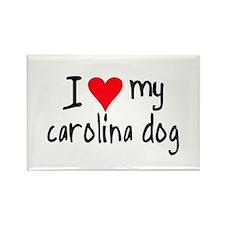 I LOVE MY Carolina Dog Rectangle Magnet
