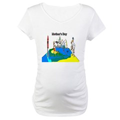 Mothers Day Funny Art Maternity T-Shirt