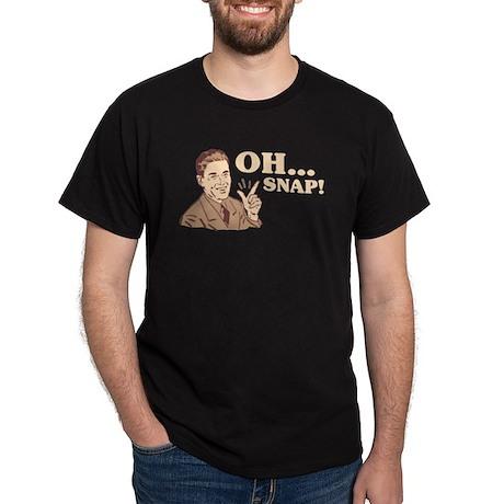 "Retro ""Oh... Snap!"" Black T-Shirt"