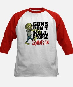 Guns Don't Kill People - Zomb Kids Baseball Jersey