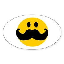 Mustached Smiley Decal