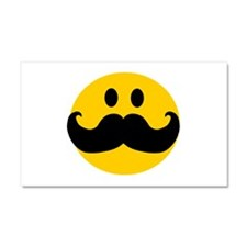 Mustached Smiley Car Magnet 20 x 12
