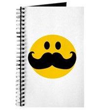 Mustached Smiley Journal