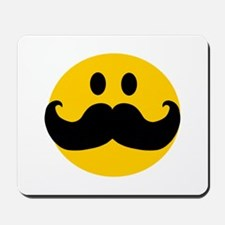 Mustached Smiley Mousepad