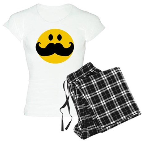 Mustached Smiley Women's Light Pajamas