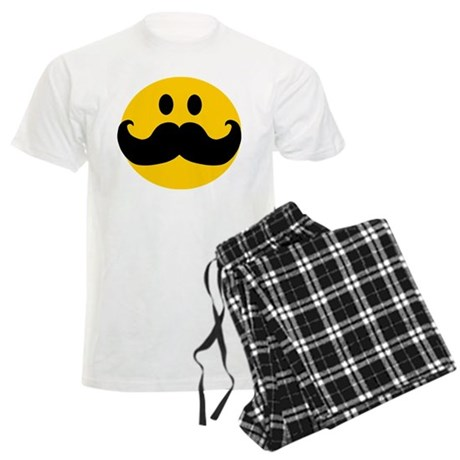 Mustached Smiley Men's Light Pajamas