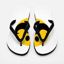 Mustached Smiley Flip Flops