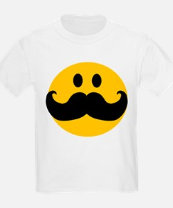 Mustached Smiley T-Shirt