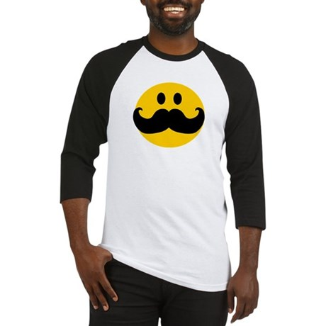 Mustached Smiley Baseball Jersey