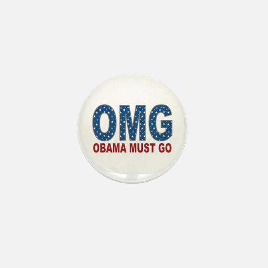 OMG Obama Must Go Mini Button (10 pack)