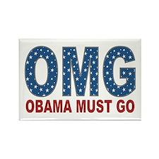 OMG Obama Must Go Rectangle Magnet
