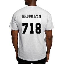 """""""BROOKLYN 718"""" Ash Grey T-Shirt"""