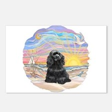 OceanSunrise-BlackCocker Postcards (Package of 8)