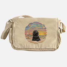 OceanSunrise-BlackCocker Messenger Bag