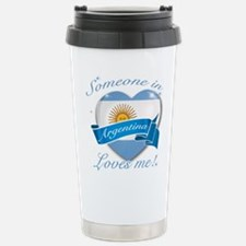 Argentina Flag Design Travel Mug