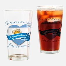 Argentina Flag Design Drinking Glass