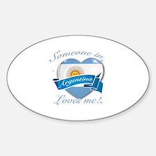 Argentina Flag Design Sticker (Oval)