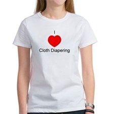 I Heart Cloth Diapering Tee