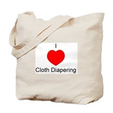 I Heart Cloth Diapering Tote Bag