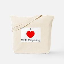 I Heart Cloth Diapering Tote Bag