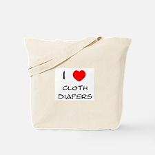 I Heart Cloth Diapers Tote Bag