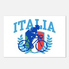 Italia Cycling (male) Postcards (Package of 8)