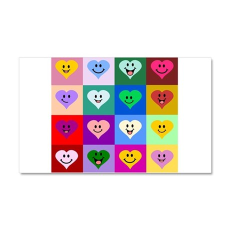 Colorful Smiley Hearts Car Magnet 20 x 12