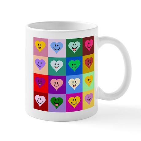 Colorful Smiley Hearts Mug