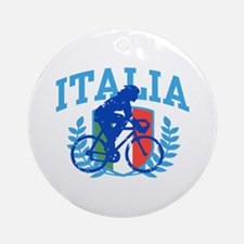 Italia Cycling (female) Ornament (Round)