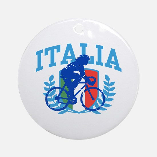 Italia Cycling (female) Ornament (Round)