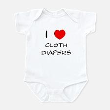 I Heart Cloth Diapers Infant Creeper