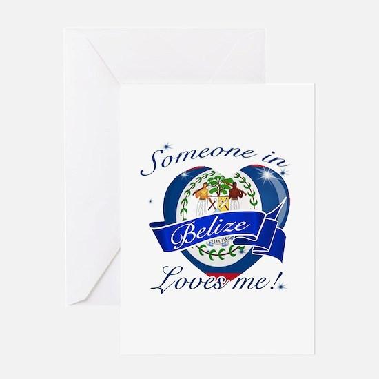 Belize Flag Design Greeting Card