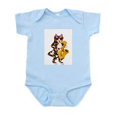 Calico Cat Playing Saxophone Infant Bodysuit